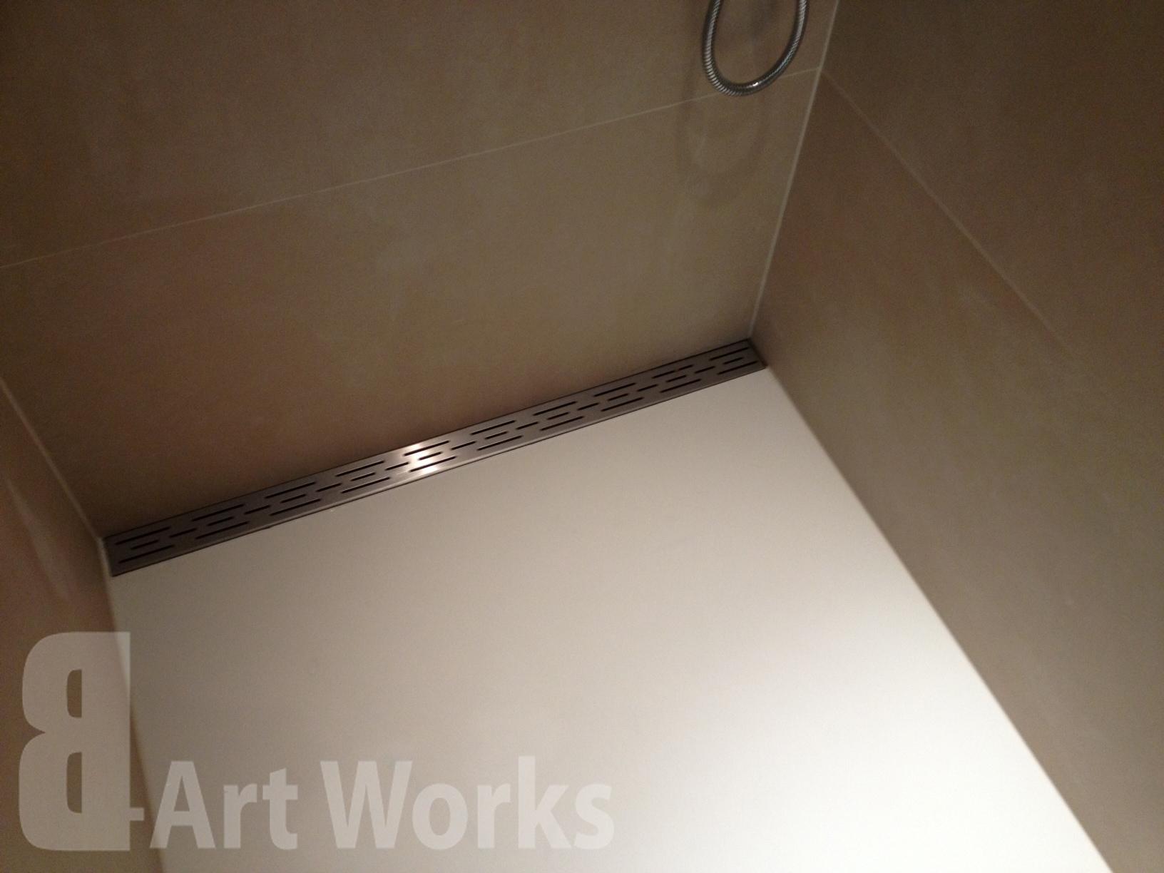 Gietvloer Badkamer Douche : Badkamer gietvloer de gegoten heeft een antislip laag dus je kan