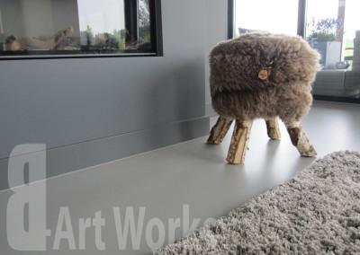 Mono Art gietvloer | polyurethaan | RAL7030